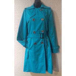 Millard Fillmore Jackets & Coats - EUC Millard Fillmore turquoise trench coat S